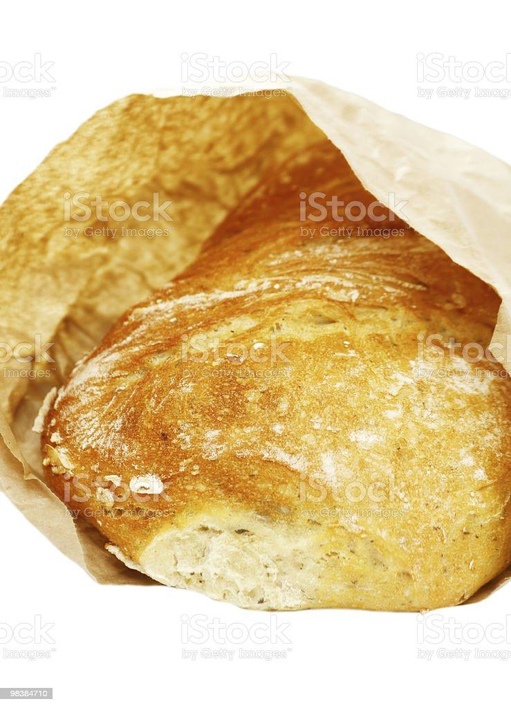 ciabatta bread in paper bag royalty-free stock photo