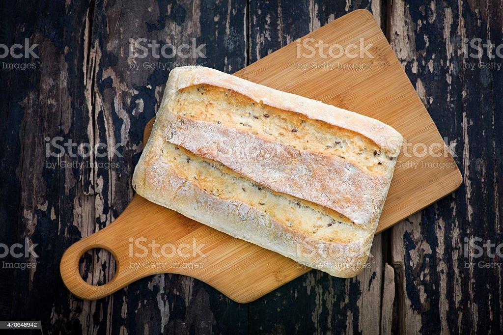 ciabatta bread stock photo