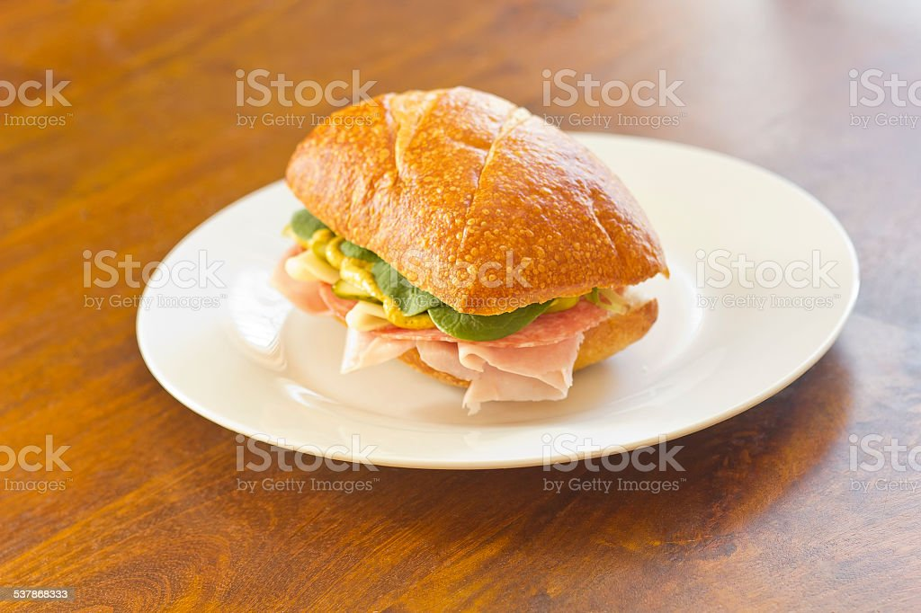 Ciabatta Roll Sandwich stock photo