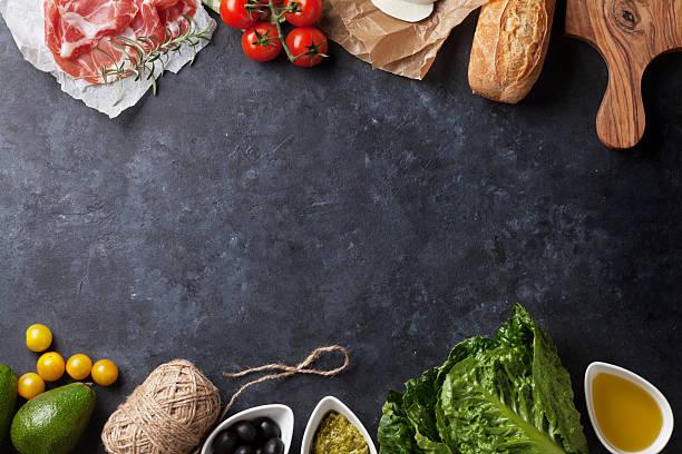 panino di ciabatta cucina - ingrediente foto e immagini stock