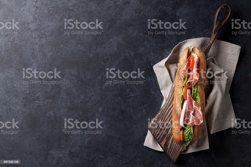 Ciabatta-sandwich  – Foto