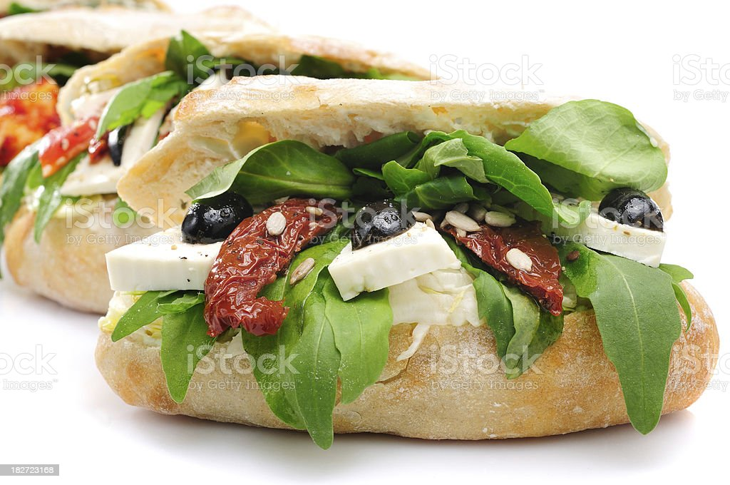 Ciabatta Sandwiches royalty-free stock photo