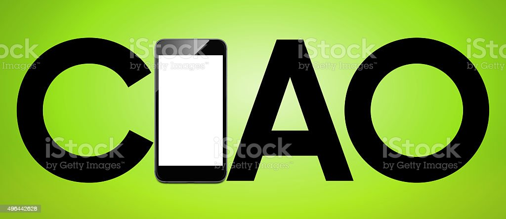 Ciao - Smart phone concept stock photo