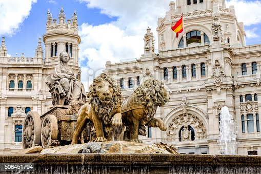 istock Cibeles fountain at Plaza de Cibeles in Madrid 508451794