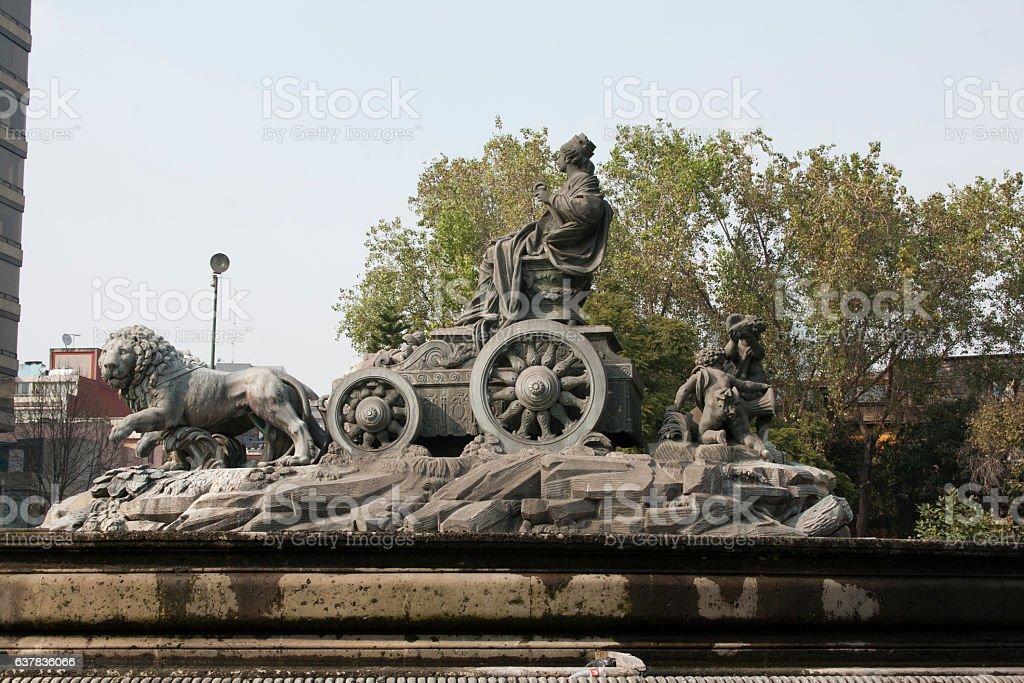 Cibeles fountain at Roma district in México City. stock photo