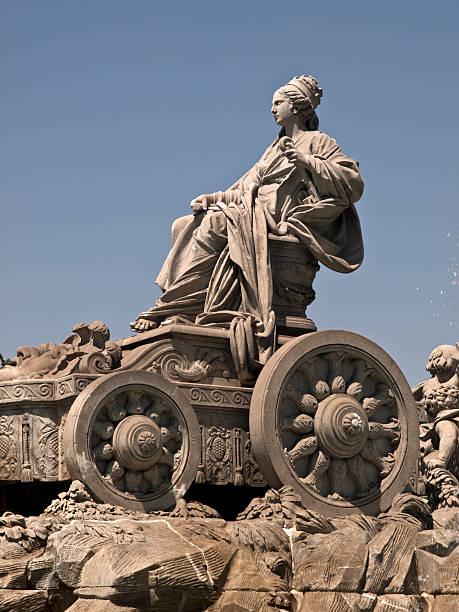 Cibeles Fountain, Madrid stock photo