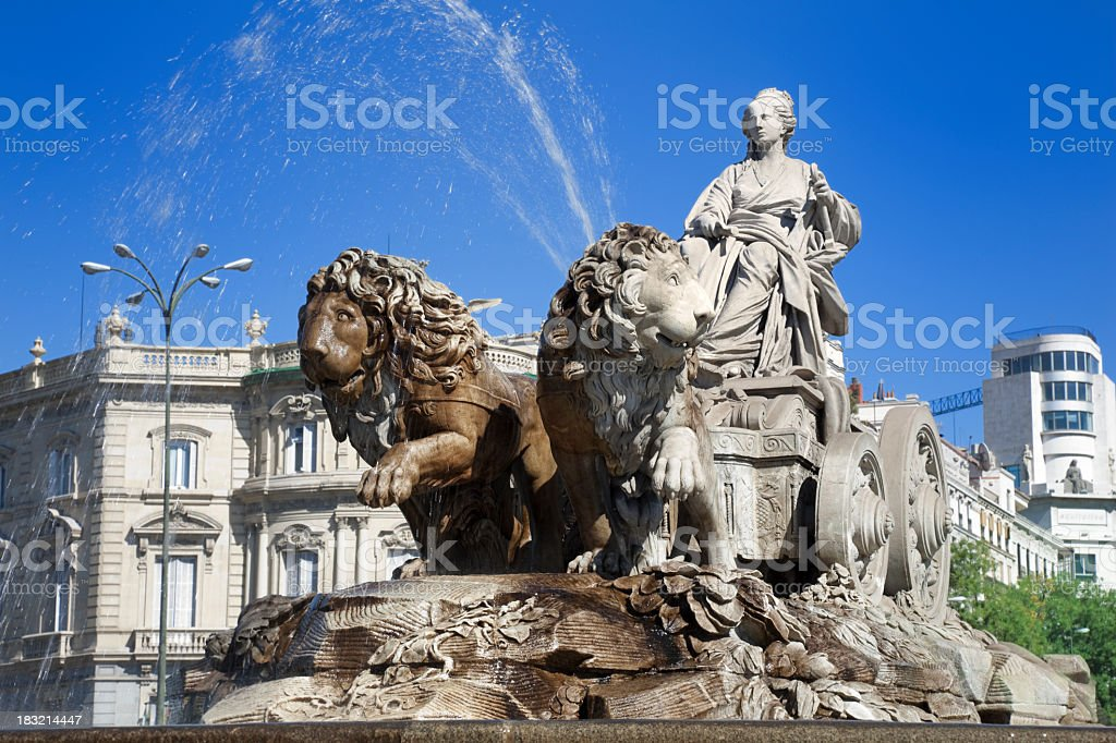 Cibeles Fountain on a sunny day stock photo