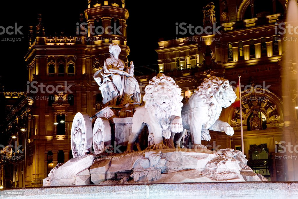Cibeles Fountain stock photo