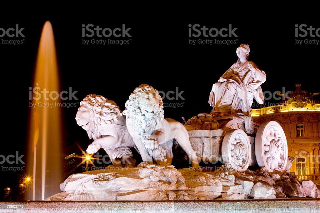 Cibeles Fountain stock photo