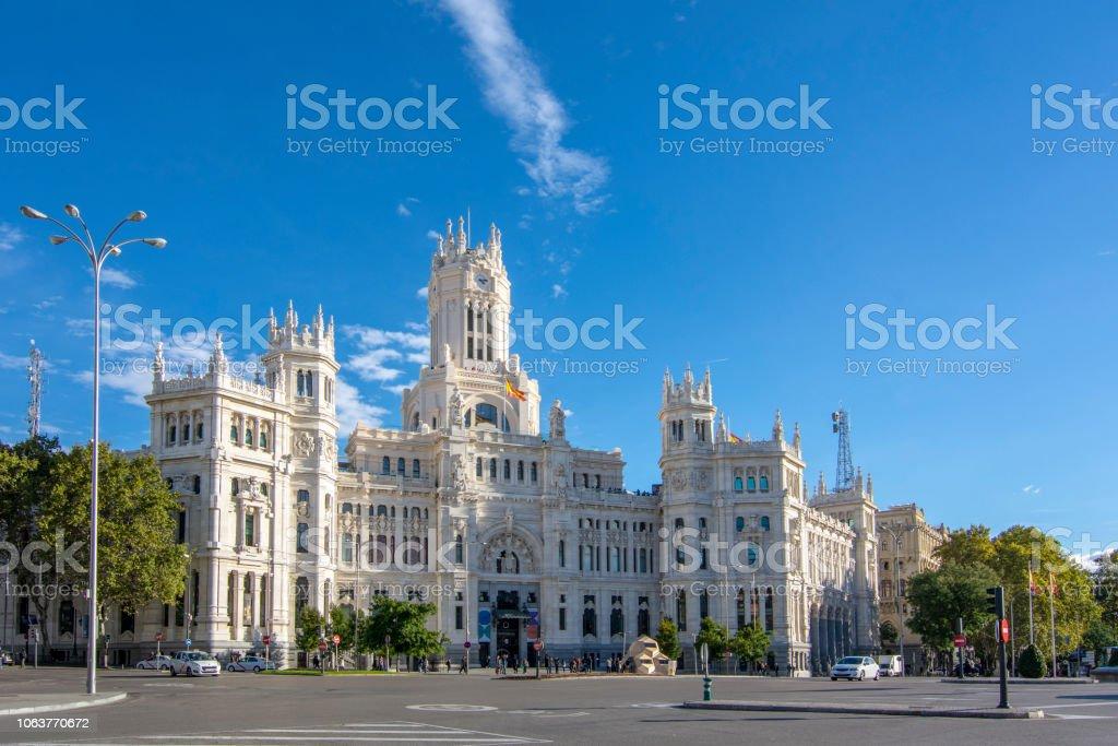 Palacio De Cibeles Oficina Central De Correos En Madrid Foto