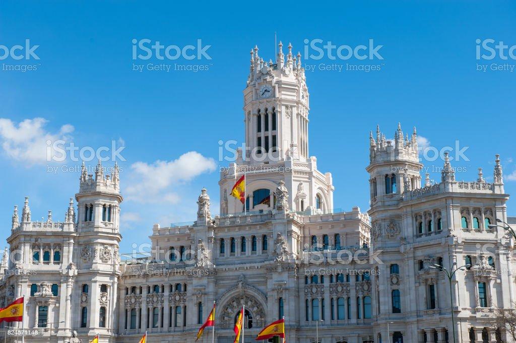 Foto De Cibeles Palace Madrid Espanha Era Casa Do Postal E