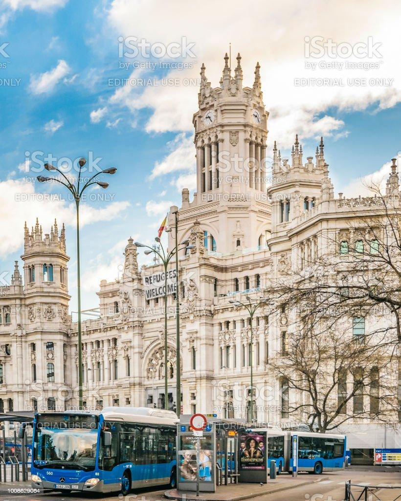 Foto De Palácio De Cibeles Madrid Espanha E Mais Fotos De