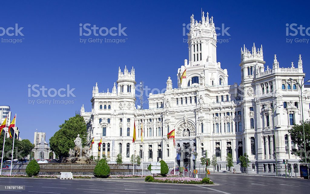 Cibeles place in Madrid, Spain stock photo