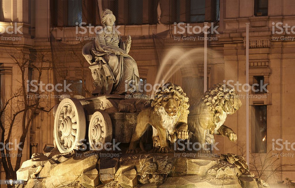 Cibelese Fountain Madrid Spain Stock Photo Download Image