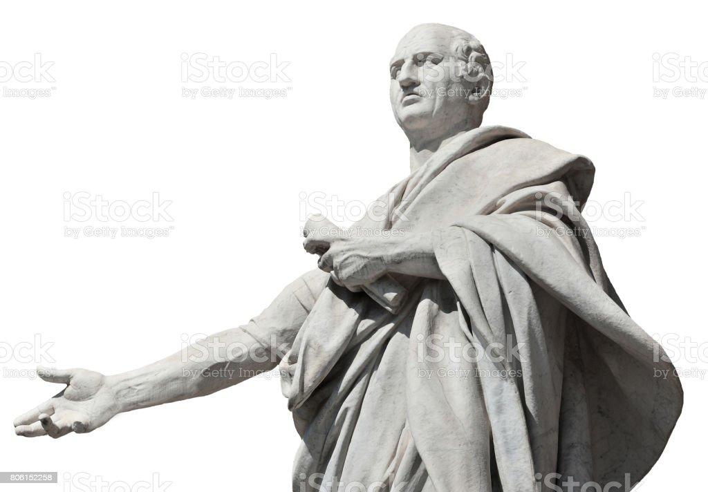 Cicero ancient roman senator (isolated on white background stock photo