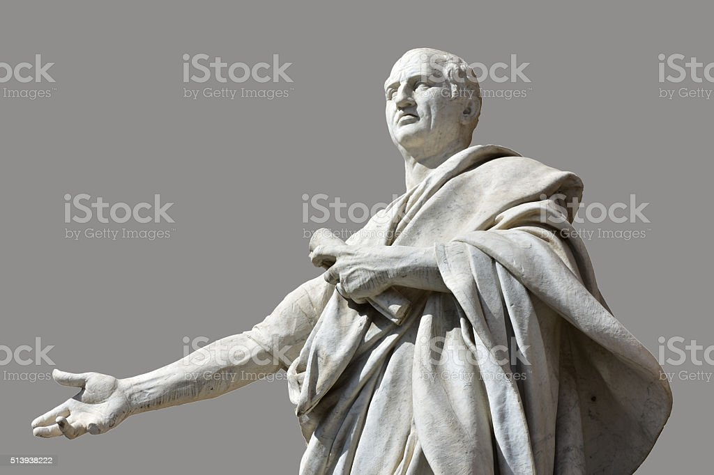 Cicero, the greatest orator of Ancient Rome stock photo