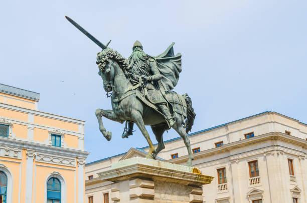 estatua del cid campeador - burgos fotografías e imágenes de stock