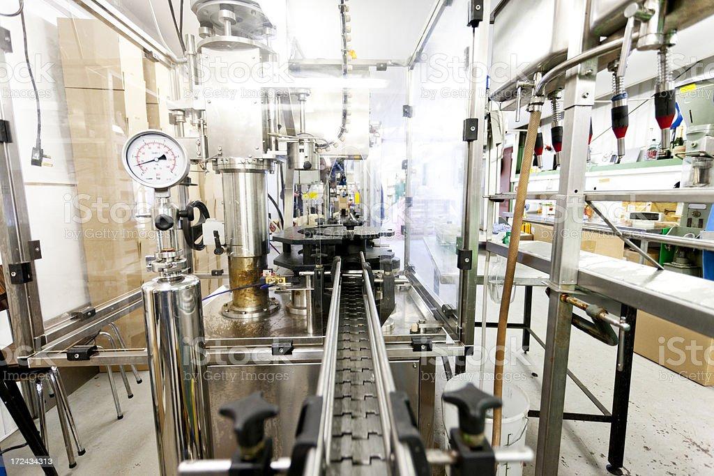 Cider bottling equipment royalty-free stock photo