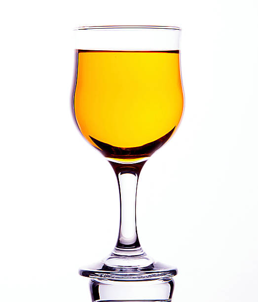 cider in wineglass stock photo