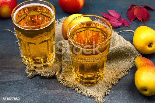 istock Cider with fruits 871927880