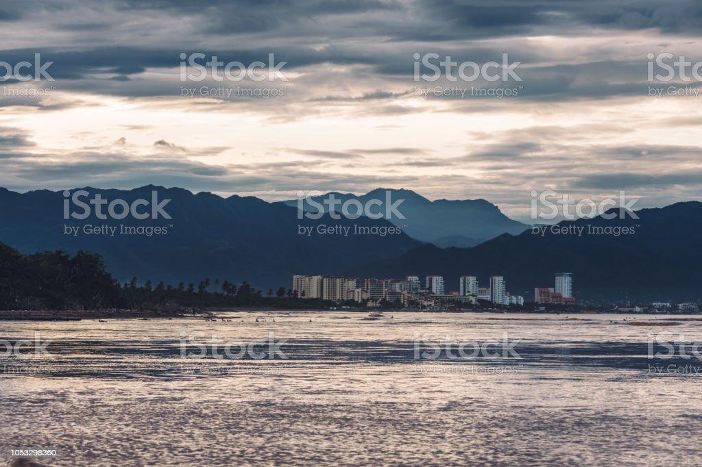 Cierra Madre mountain range at sunrise stock photo
