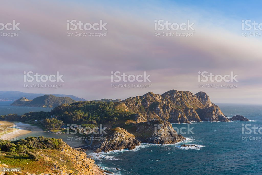 Cies Islands. stock photo