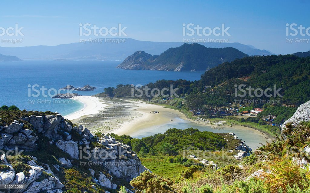 cies islands, Ria of Vigo, Galicia, Spain stock photo