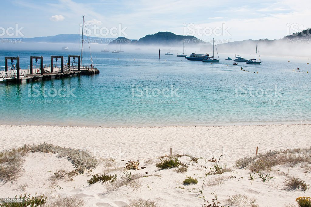 cies natural park islands, Galicia, Spain stock photo