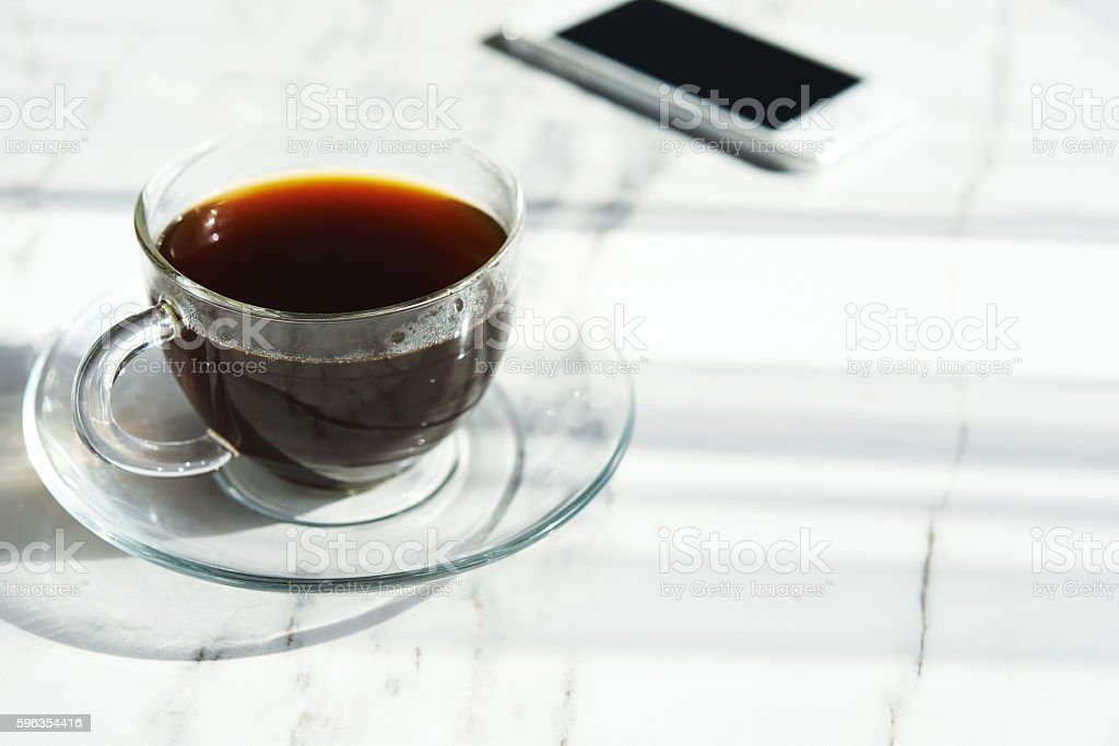 ciffee in glass cup royalty-free stock photo