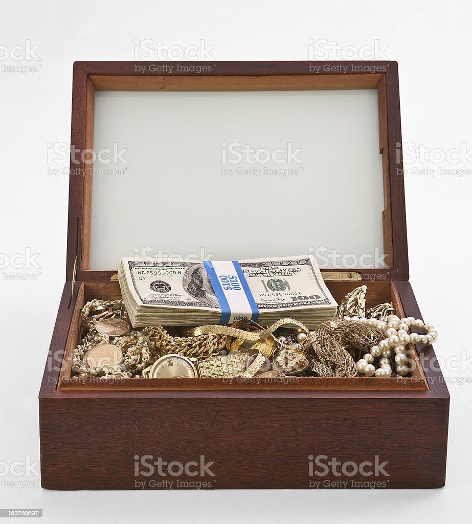 cigar box treasure chest royalty-free stock photo