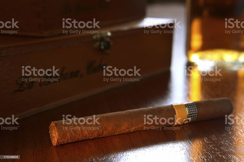cigar boxes and whiskey 5 stock photo