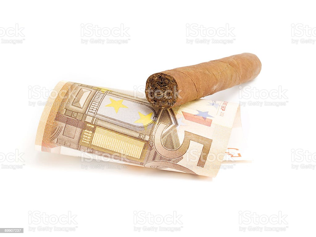 Cigar costing 50 euro royalty-free stock photo