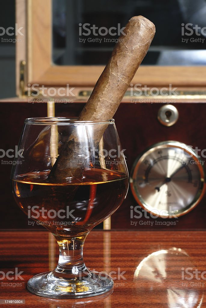 Cigar in Brandy royalty-free stock photo