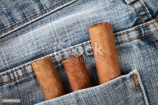 cigar in the jeans pocket on back side
