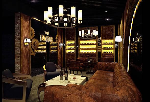 cigar lounge _ stock image - club sofa stock-fotos und bilder