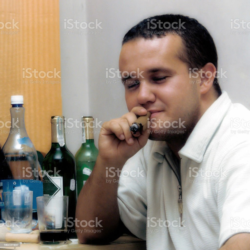 Cigar: Moments of pleasure royalty-free stock photo