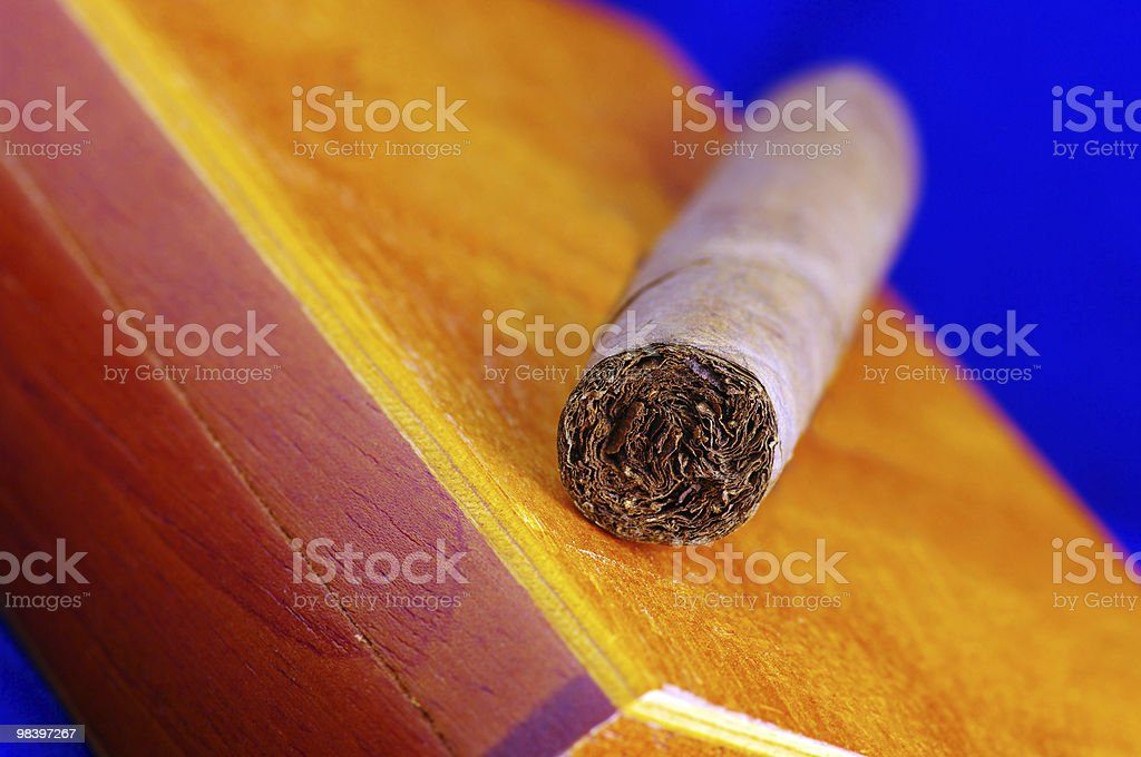 Cigar on the box royalty-free stock photo
