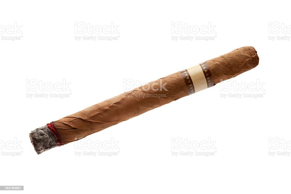 Cigar on white background royalty-free stock photo