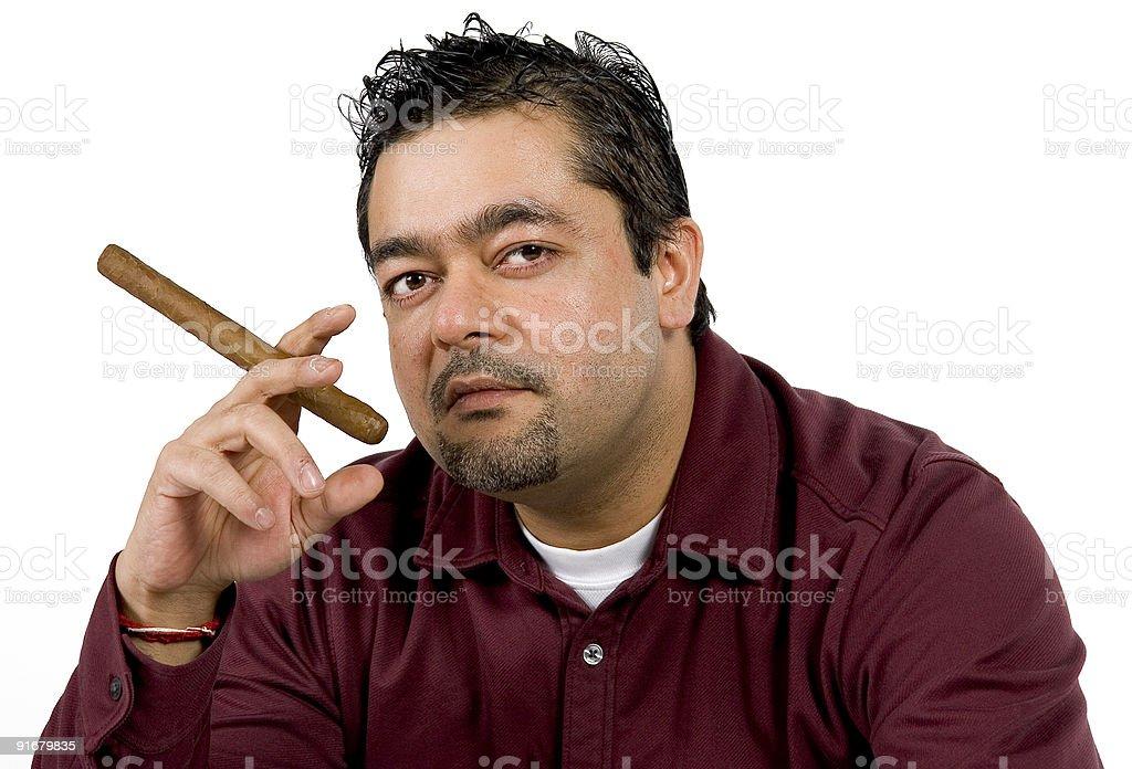 Cigar smoker royalty-free stock photo
