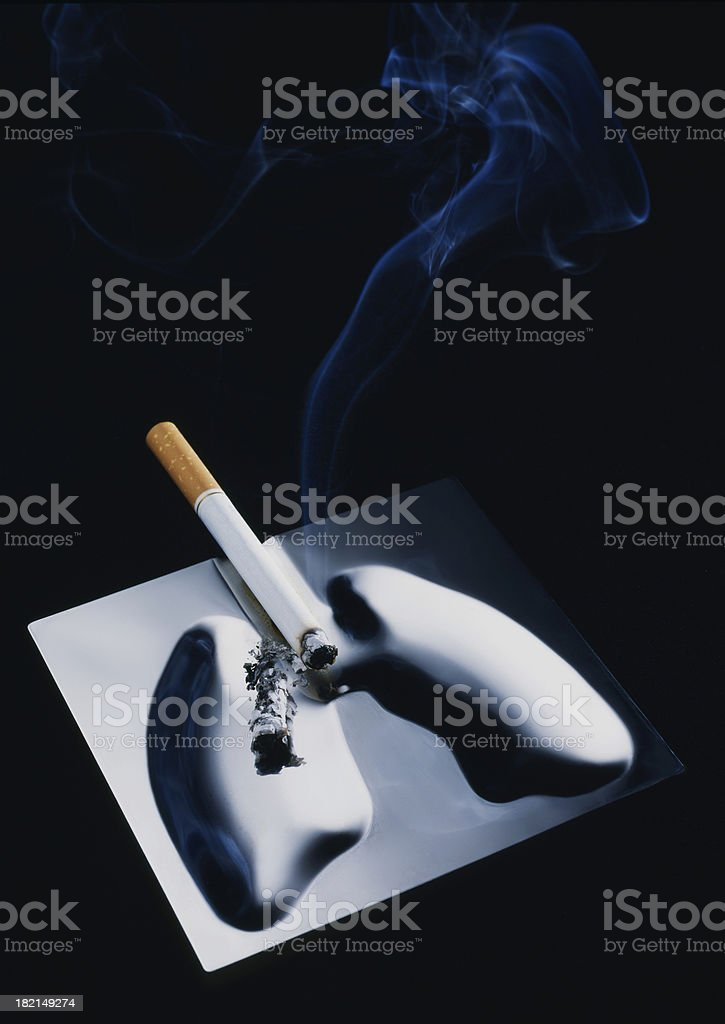 Cigarette and ashtray. royalty-free stock photo