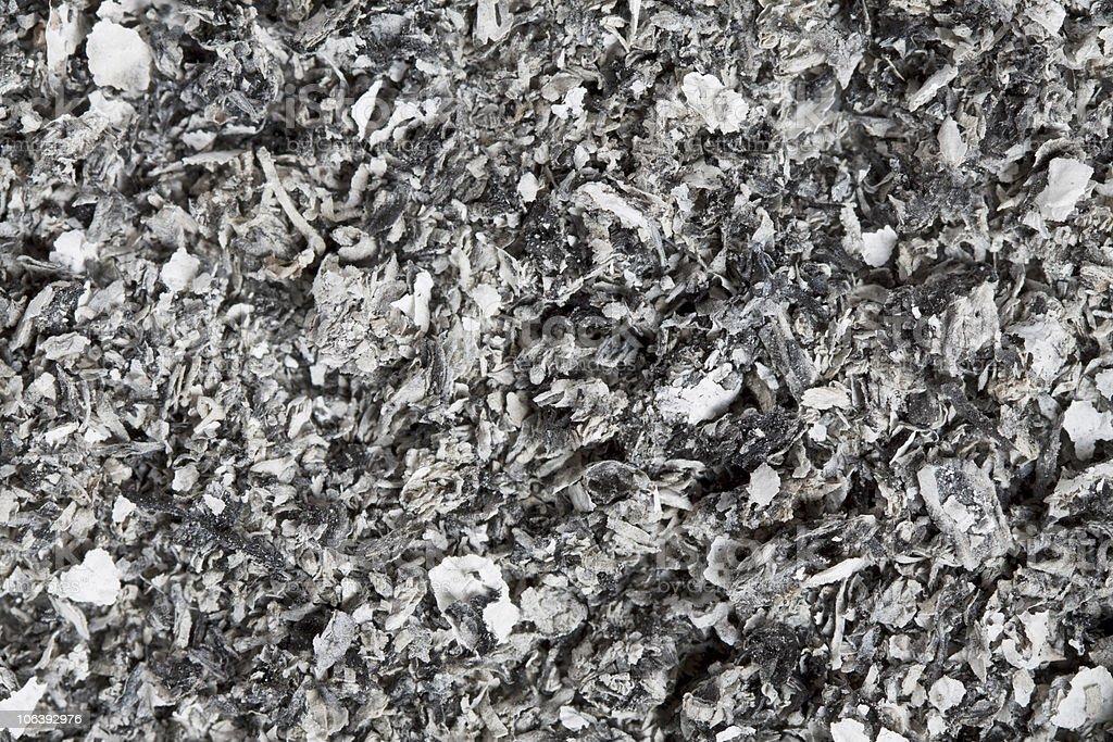 Cigarette ash stock photo