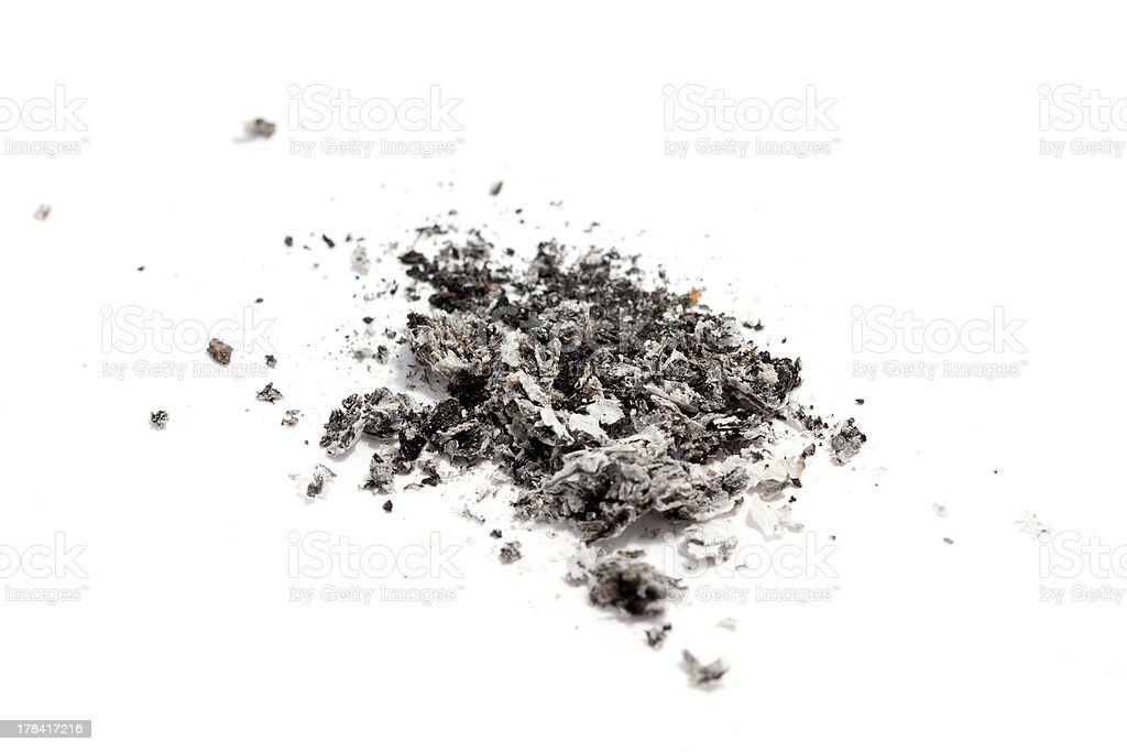 cigarette ash stock photo