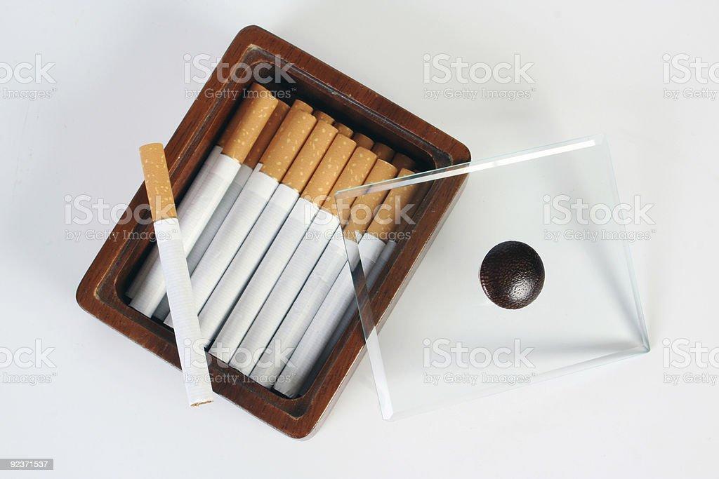 cigarette box royalty-free stock photo