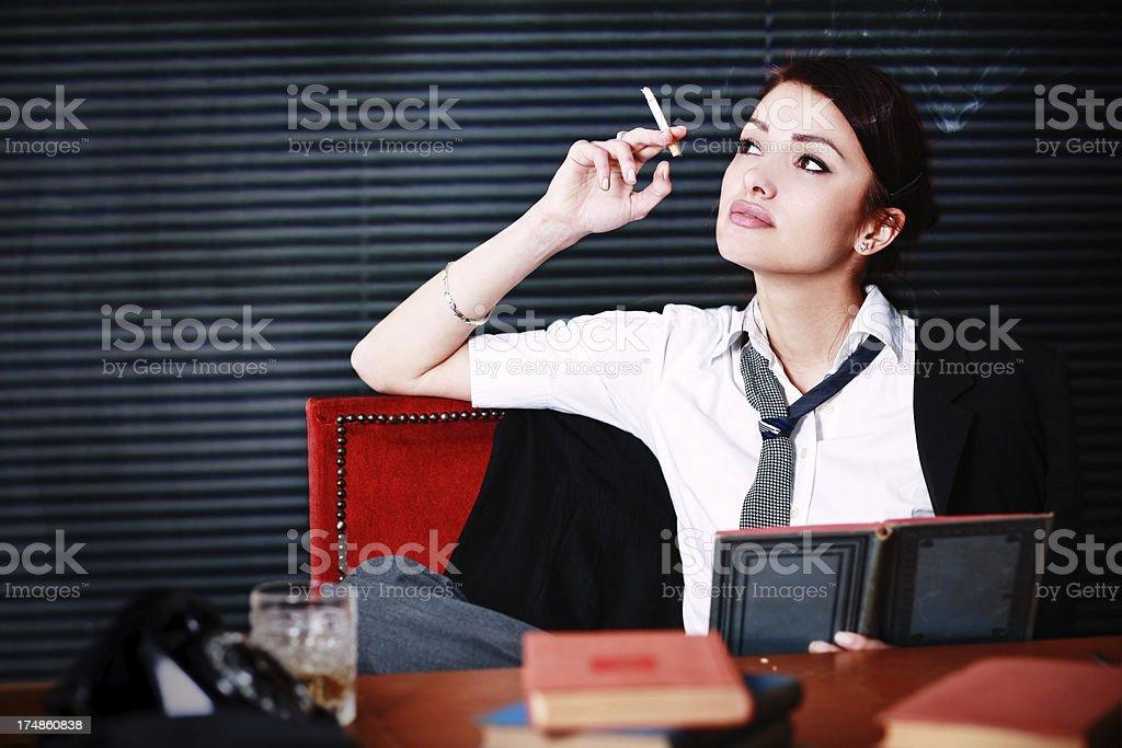 Cigarette break royalty-free stock photo