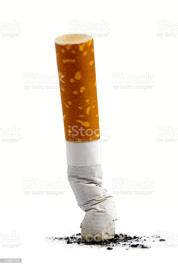 Cigarette butt stock photo
