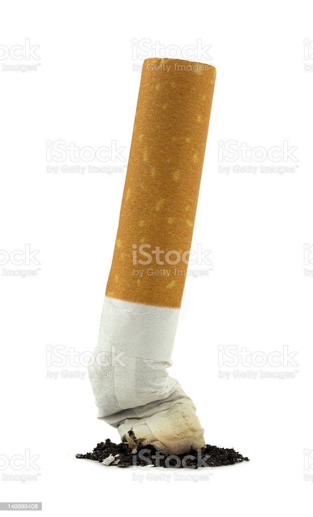 Cigarette Butt. stock photo