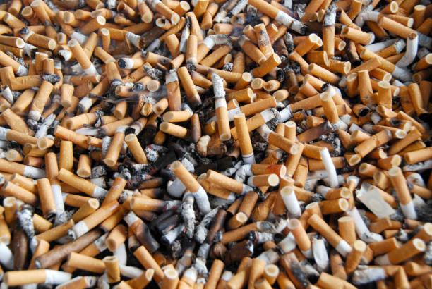 cigarette butts - cicca sigaretta foto e immagini stock