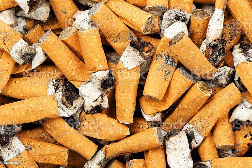 cigarette butts stock photo