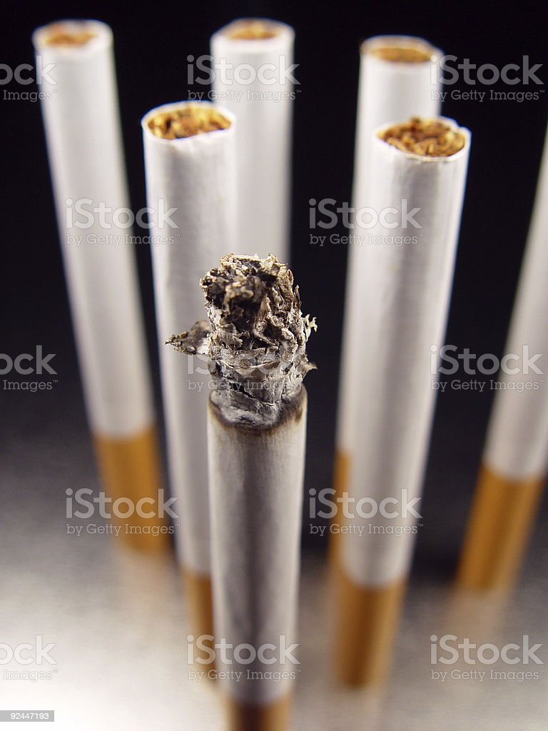 Cigarette Chorus Line royalty-free stock photo