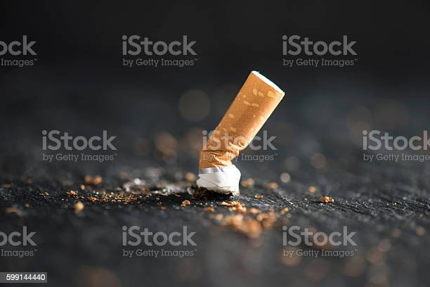 Cigarette End Stock Photo - Download Image Now